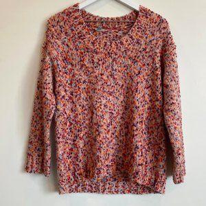Ecote Fuzzy Flecked Speckled Oversized Sweater